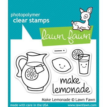 Lawn Fawn MAKE LEMONADE Clear Stamps