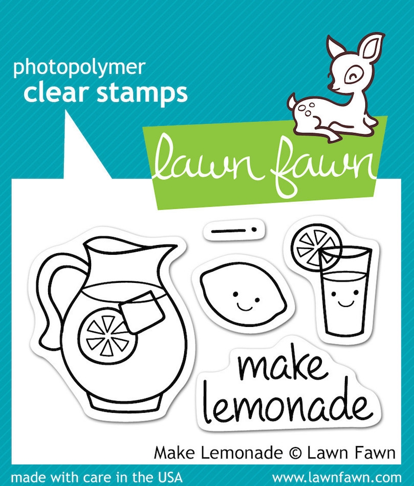 Lawn Fawn MAKE LEMONADE Clear Stamps zoom image