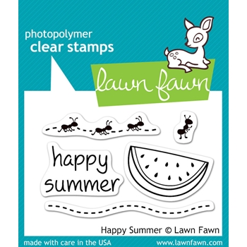 Lawn Fawn HAPPY SUMMER Clear Stamps LF396