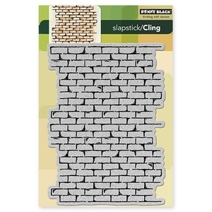 Penny Black Cling Stamp BRICK WALL Rubber Unmounted 40 137 zoom image